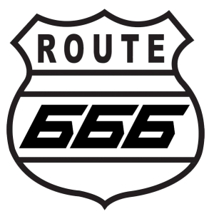 Route 666 Stickers